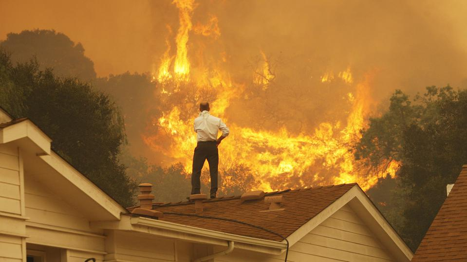 Roofs do not catch on fire they are fire retardant.